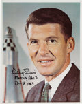 Autographs:Celebrities, Wally Schirra Signed Business Suit Pose Color Photo. ...
