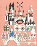 "Animation Art:Production Drawing, Mary Blair ""It's a Small World"" Disneyland Painting (Walt Disney,1964). ..."