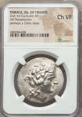 Ancients:Greek, Ancients: THRACIAN ISLANDS. Thasos (possibly Celtic). 2nd-1stcenturies BC. AR tetradrachm. NGC Choice VF....