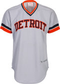 Baseball Collectibles:Uniforms, 1973 Al Kaline Signed Game Worn Detroit Tigers Jersey....