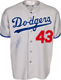 Baseball Collectibles:Uniforms, 1978-79 Rick Sutcliffe Signed Game Worn Los Angeles Dodgers Jersey - Rookie of the Year Jersey!...