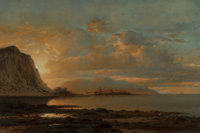 William Bradford (American, 1823-1892) Home Port, Coast of Labrador Oil on canvas 20 x 30 inches