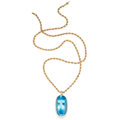 Estate Jewelry:Pendants and Lockets, Blue Topaz, Gold Pendant-Necklace. ... (Total: 2 Items)