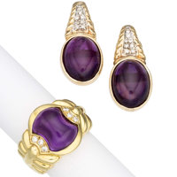 Amethyst, Diamond, Gold Jewelry