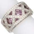 Estate Jewelry:Rings, Diamond, Pink Sapphire, White Gold Ring. ...