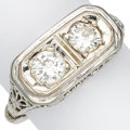Estate Jewelry:Rings, Art Deco Diamond, White Gold Ring. ...