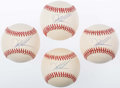 Autographs:Baseballs, Dwight Gooden Single Signed Baseball Quartet (4). ...