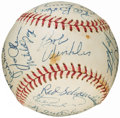 Autographs:Baseballs, 1978 Oakland Athletics Team Signed Baseball (27 Signatures)....