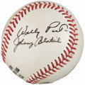 Autographs:Baseballs, Baseball Greats Multi-Signed Baseball - Al Lopez, Eddie Onslow,Bucky Walters, Wally Post, & Johnny Blatnik....