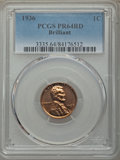1936 1C Type Two, Brilliant Finish PR64 Red PCGS. PCGS Population: (471/252). NGC Census: (112/61). CDN: $600 Whsle. Bid...