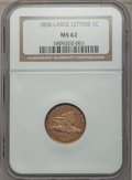 Flying Eagle Cents: , 1858 1C Large Letters MS62 NGC. NGC Census: (14/143). PCGS Population: (223/1209). Mintage 24,600,000. ...