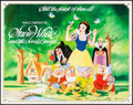 "Movie Posters:Animation, Snow White and the Seven Dwarfs (Buena Vista, R-1983). Half Sheet (22"" X 28""). Animation.. ..."