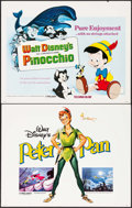 """Movie Posters:Animation, Peter Pan & Other Lot (Buena Vista, R-1982). Half Sheets (2) (22"""" X 28""""). Animation.. ... (Total: 2 Items)"""