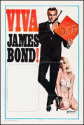 "Movie Posters:James Bond, Viva James Bond (United Artists, 1970). Stock One Sheet (27"" X 41""). James Bond.. ..."