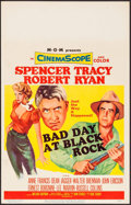 """Movie Posters:Thriller, Bad Day at Black Rock (MGM, 1955). Window Card (14"""" X 22""""). Thriller.. ..."""