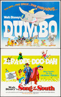 "Movie Posters:Animation, Song of the South & Other Lot (Buena Vista, R-1972). HalfSheets (2) (22"" X 28""). Animation.. ... (Total: 2 Items)"