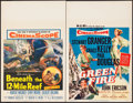 "Movie Posters:Adventure, Beneath the 12-Mile Reef & Other Lot (20th Century Fox, 1953).Window Cards (2) (14"" X 22""). Adventure.. ... (Total: 2 Items)"