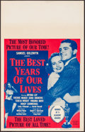 "Movie Posters:Drama, The Best Years of Our Lives (RKO, R-1954). Window Card (14"" X 22""). Drama.. ..."