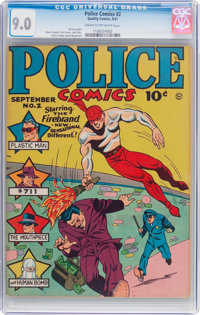 Police Comics #2 (Quality, 1941) CGC VF/NM 9.0 Cream to off-white pages