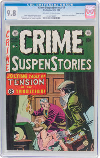 Crime SuspenStories #14 Gaines File Pedigree 6/12 (EC, 1952) CGC NM/MT 9.8 Light tan to off-white pages
