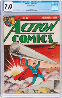 Action Comics #19 (DC, 1939) CGC FN/VF 7.0 Off-white to white pages