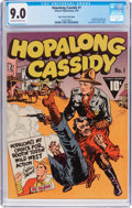 Golden Age (1938-1955):Western, Hopalong Cassidy #1 Mile High Pedigree (Fawcett Publications, 1943)CGC VF/NM 9.0 Off-white to white pages....