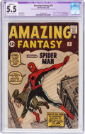 Silver Age (1956-1969):Superhero, Amazing Fantasy #15 (Marvel, 1962) CGC Apparent FN- 5.5 Slight(C-1) Cream to off-white pages....
