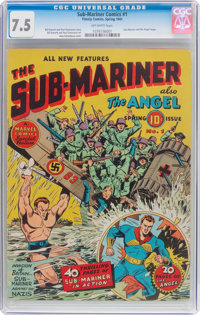 Sub-Mariner Comics #1 (Timely, 1941) CGC VF- 7.5 Off-white pages