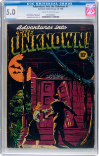 Adventures Into The Unknown #1 (ACG, 1948) CGC VG/FN 5.0 Cream to off-white pages