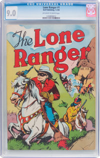 Lone Ranger #1 (Dell, 1948) CGC VF/NM 9.0 Off-white to white pages