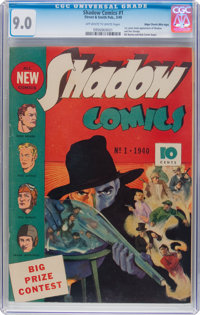 Shadow Comics #1 Mile High Pedigree (Street & Smith, 1940) CGC VF/NM 9.0 Off-white to white pages
