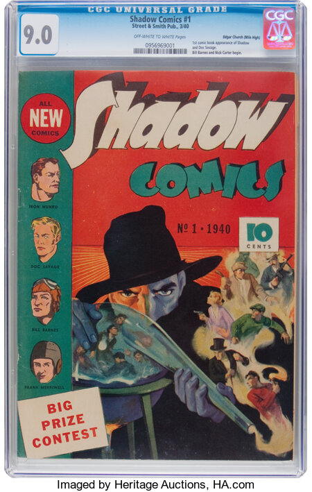 Shadow Comics #1 Mile High Pedigree (Street & Smith, 1940) CGC VF/NM 9.0 Off-white to white pages....