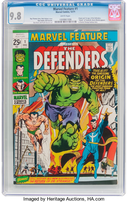 Marvel Feature #1 (Marvel, 1971) CGC NM/MT 9.8 White pages....