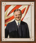 Political:3D & Other Display (1896-present), Herbert Hoover: Vibrant From-Life Portrait Autographed byHoover....