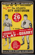 Boxing Collectibles:Memorabilia, 1970 Muhammad Ali vs. Jerry Quarry On-Site Boxing Poster. ...