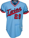 Baseball Collectibles:Uniforms, 1974 Rod Carew Signed Game Worn Minnesota Twins Jersey....