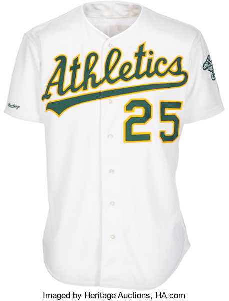 reputable site daf7f a88b1 1990 Mark McGwire Game Worn Oakland Athletics Jersey ...