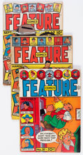 Golden Age (1938-1955):Miscellaneous, Feature Comics Group of 7 (Quality, 1940-43) Condition: Average GD.... (Total: 7 Comic Books)