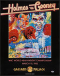 Boxing Collectibles:Autographs, LeRoy Neiman And Larry Holmes Dual Signed Fight Poster. ...