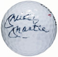 Autographs:Others, Mickey Mantle Signed Golf Ball & Letter. ...