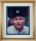 "Autographs:Photos, Mickey Mantle Signed Oversized Photograph - With ""No. 7""Inscription. ..."