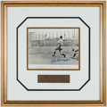 "Autographs:Others, Joe DiMaggio Signed ""Last Streak Hit"" Photograph Display...."