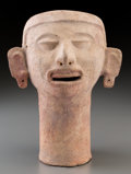 Pre-Columbian:Ceramics, An Aztec Head ...