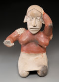 Pre-Columbian:Ceramics, An Ameca Jalisco Kneeling Female...