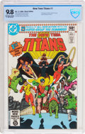 Modern Age (1980-Present):Superhero, New Teen Titans #1 (DC, 1980) CBCS NM/MT 9.8 Off-white to whitepages....