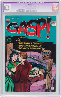 Gasp #1 (ACG, 1967) CGC Apparent VF+ 8.5 Slight (A) Off-white to white pages