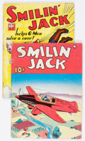 Golden Age (1938-1955):Miscellaneous, Large Feature Comic (Series I) #12 sand 14 Smilin' Jack Group (Dell, 1940-41) Condition: GD/VG.... (Total: 2 Comic Books)