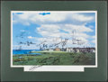 Golf Collectibles:Autographs, British Open Winners Multi-Signed Lithograph....