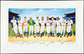 Autographs:Others, 1988 500 Home Run Club Ron Lewis Signed Lithograph Display. ...