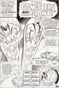 Original Comic Art:Splash Pages, Carl Burgos and Chic Stone Tales to Astonish #63 Splash Page1 Giant-Man and the Wasp Original Art (Marvel, 1965)....